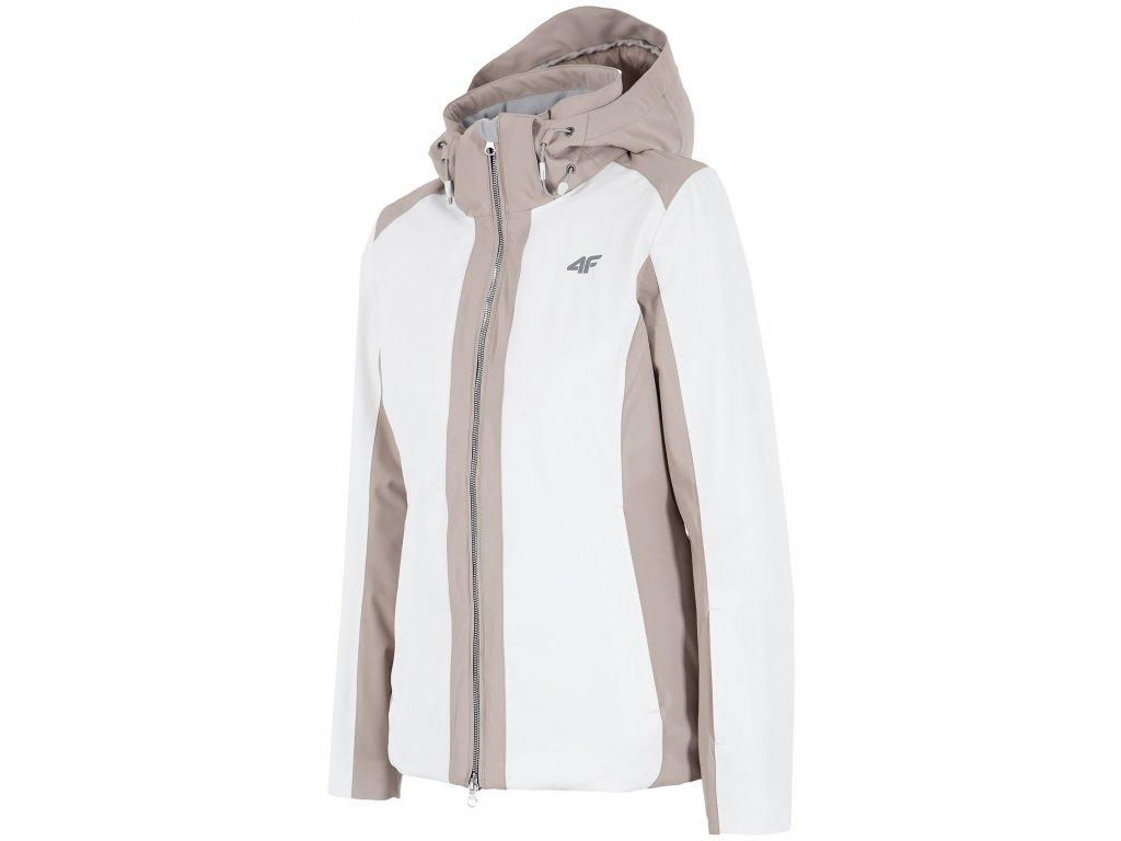Dámská lyžařská bunda 4F KUDN005 White bílá