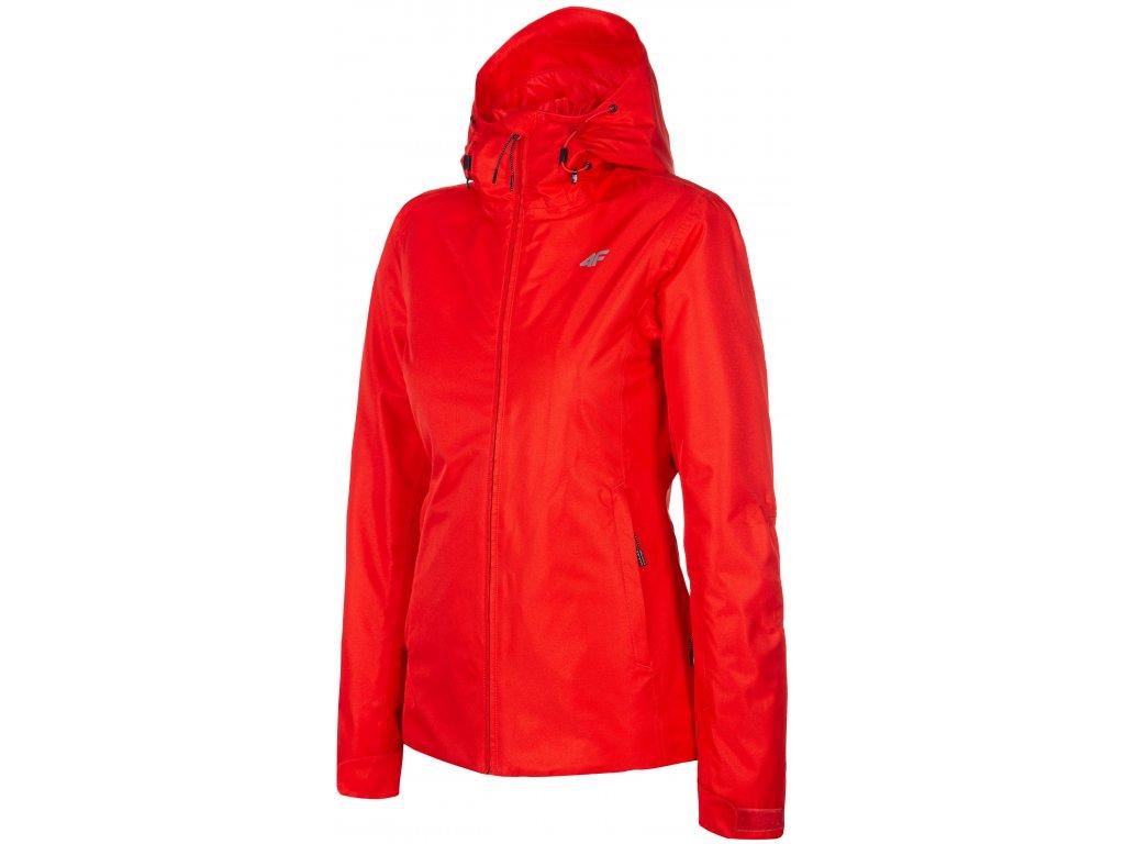 Dámská bunda 4F KUDN001 Red červená