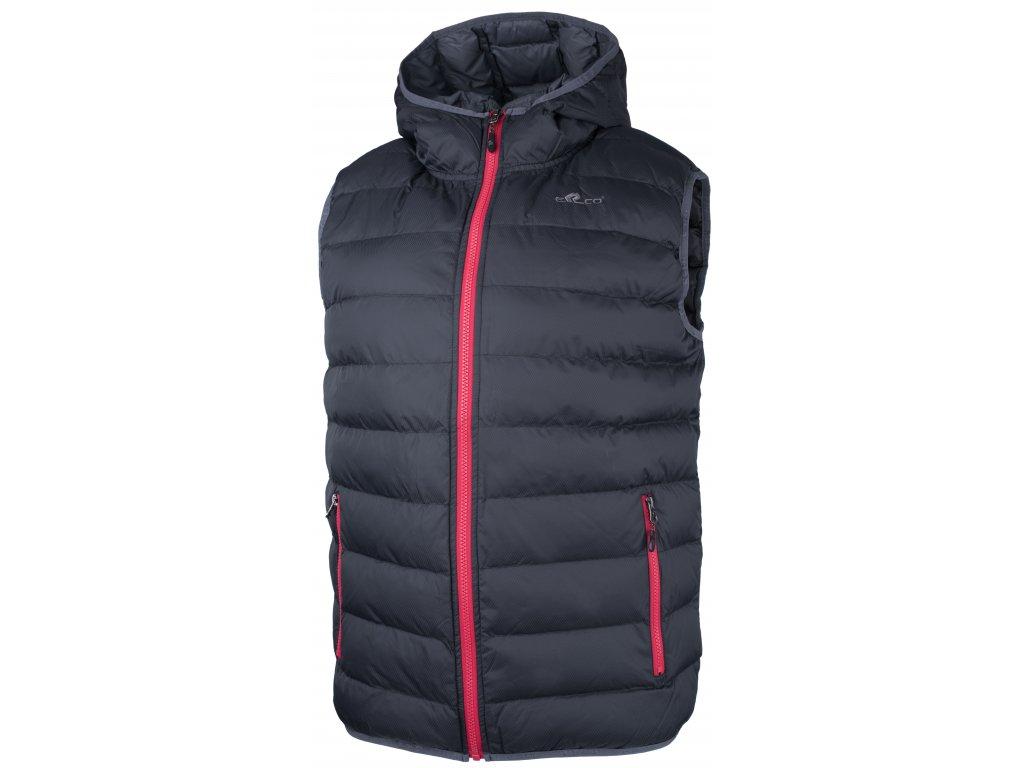 Pánská vesta ERCO DAREN BLK/RED černá