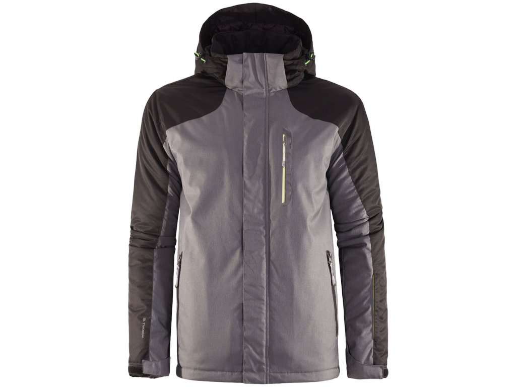 Pánská lyžařská bunda Outhorn KUMN602 D.grey mel. šedá