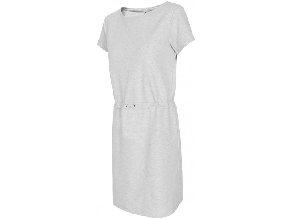 Dámské šaty Outhorn UDD602 White mel. šedá