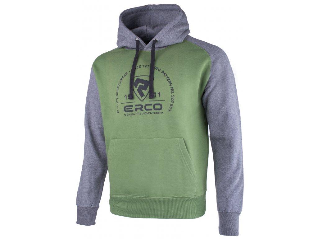 Pánská mikina ERCO KOLEN GRN/DG zelená