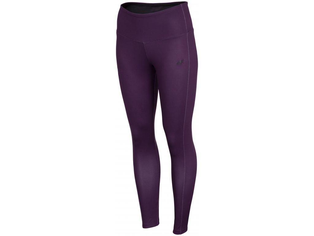 Dámské legíny 4F SPDF002 Dark violet fialová