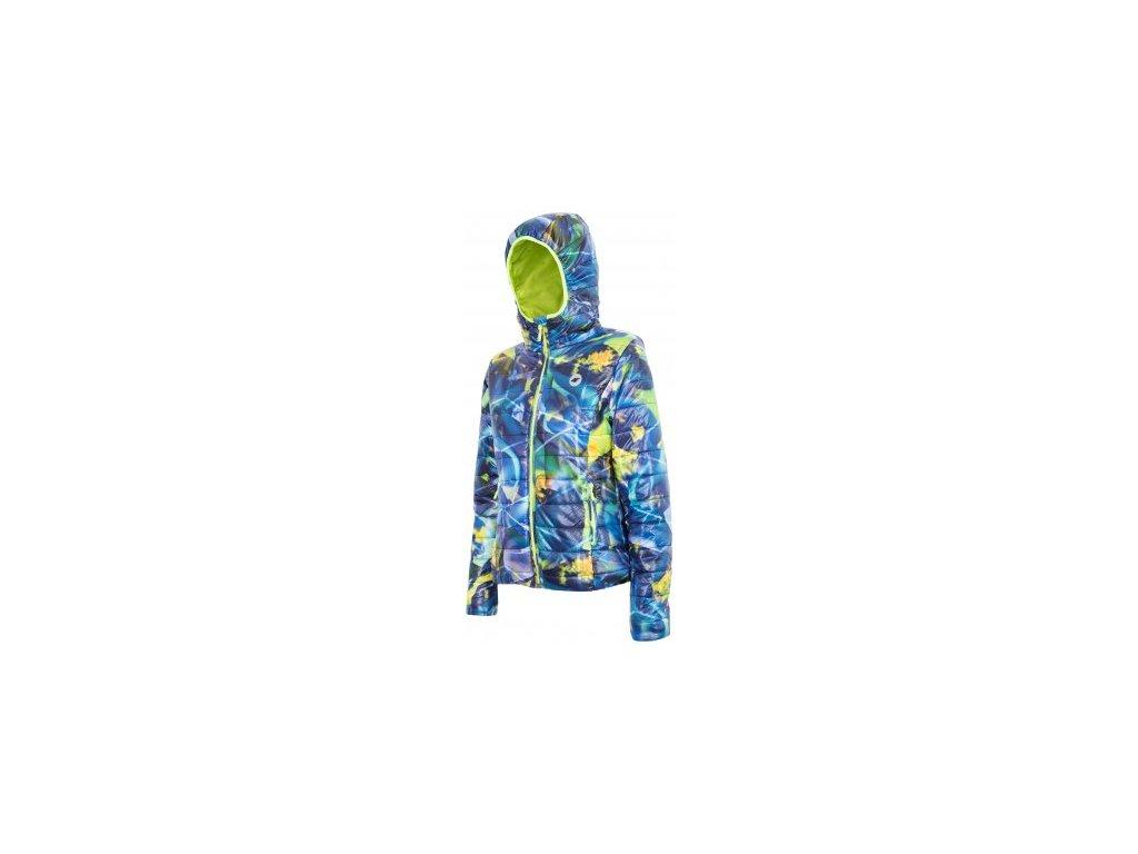 Dámská zimní bunda 4F KUD006 Allover print modrá