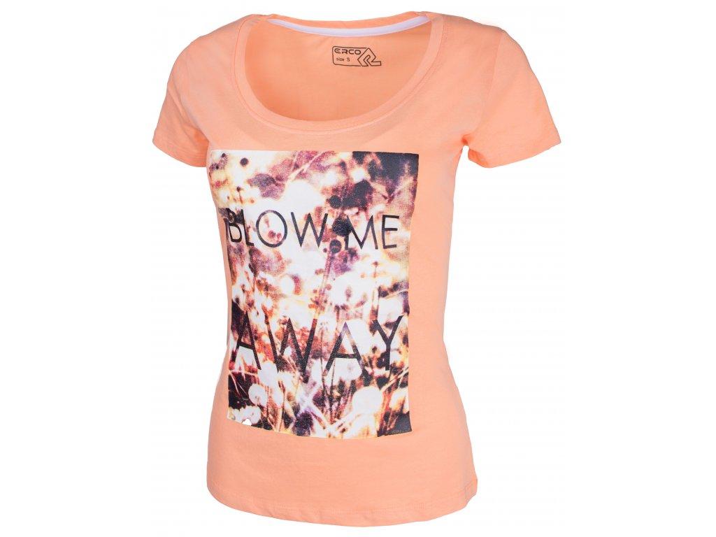 Dámské tričko ERCO AWAY ORN oranžová