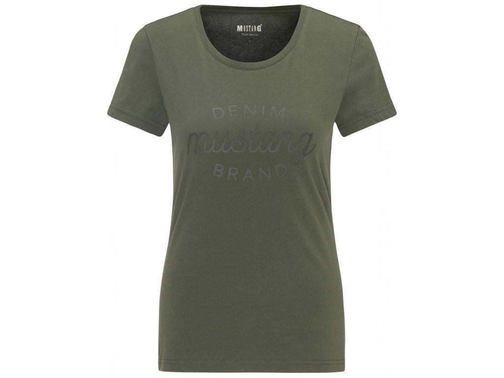 Dámské tričko Mustang 1008379 6476 zelená