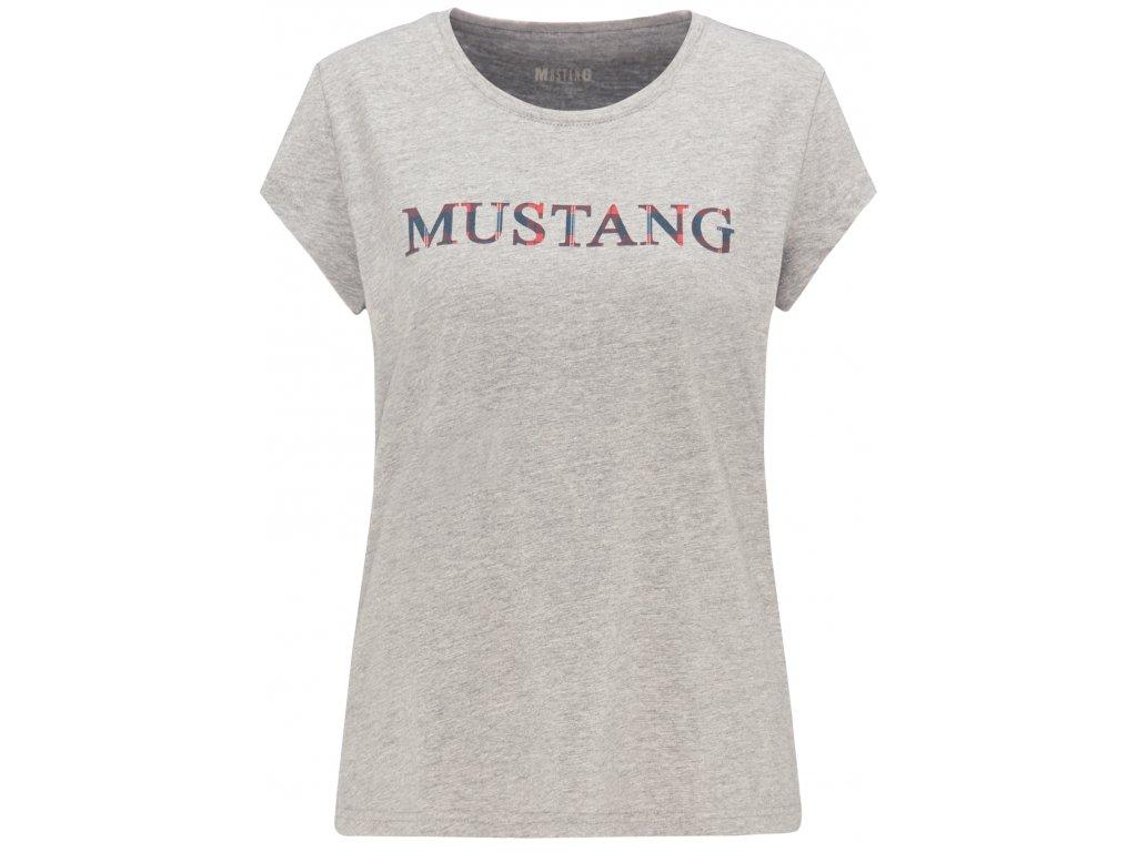 Dámské tričko Mustang 1008381 4140 šedá