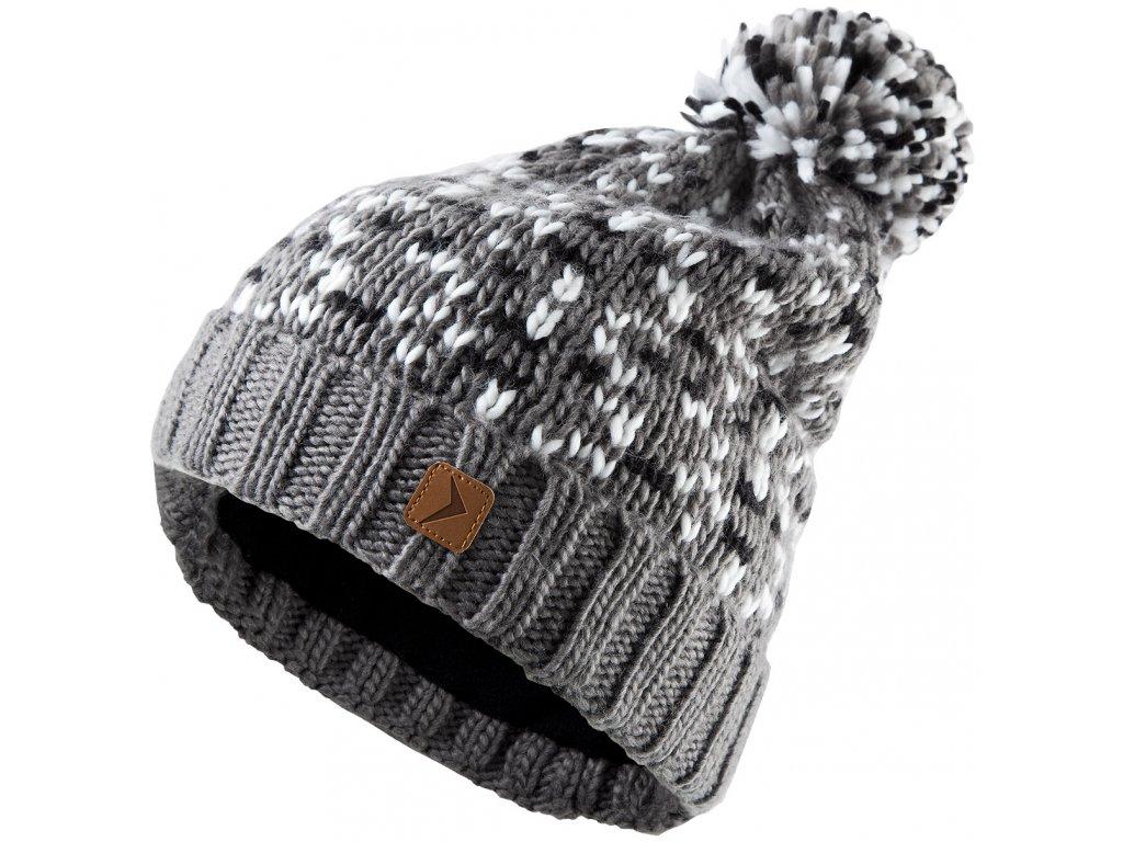 Dámská pletená čepice Outhorn CAD612 Gray mel šedá