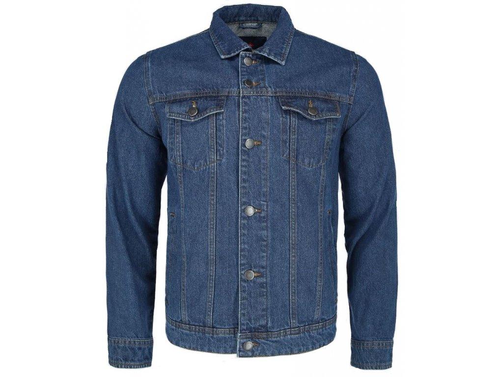 Pánská jeans bunda Volcano J-Leo 606 modrá