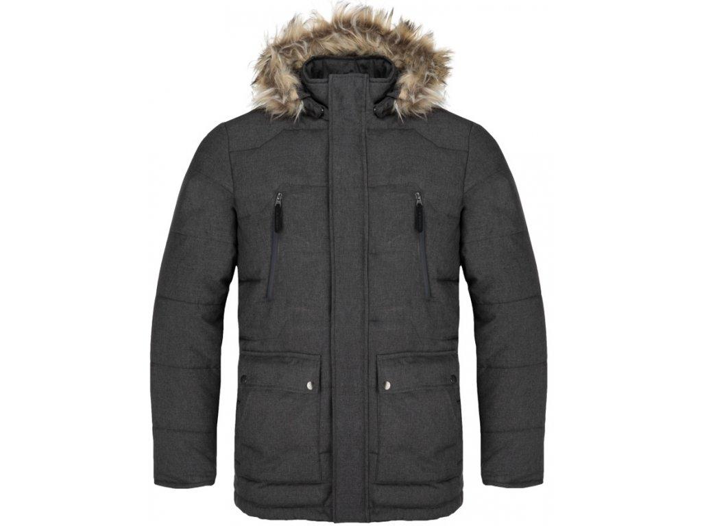 Pánská zimní bunda Loap THRON T49X šedá