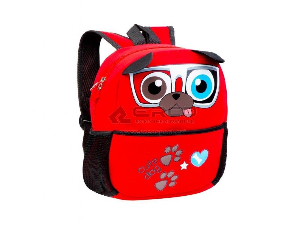 Dětský batoh Spokey PEJSEK červená