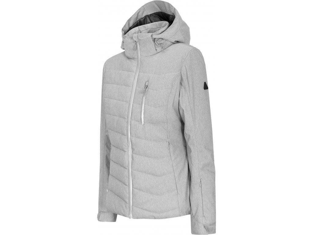 Dámská lyžařská bunda Outhorn KUDN604 Cold l. grey mel. šedá