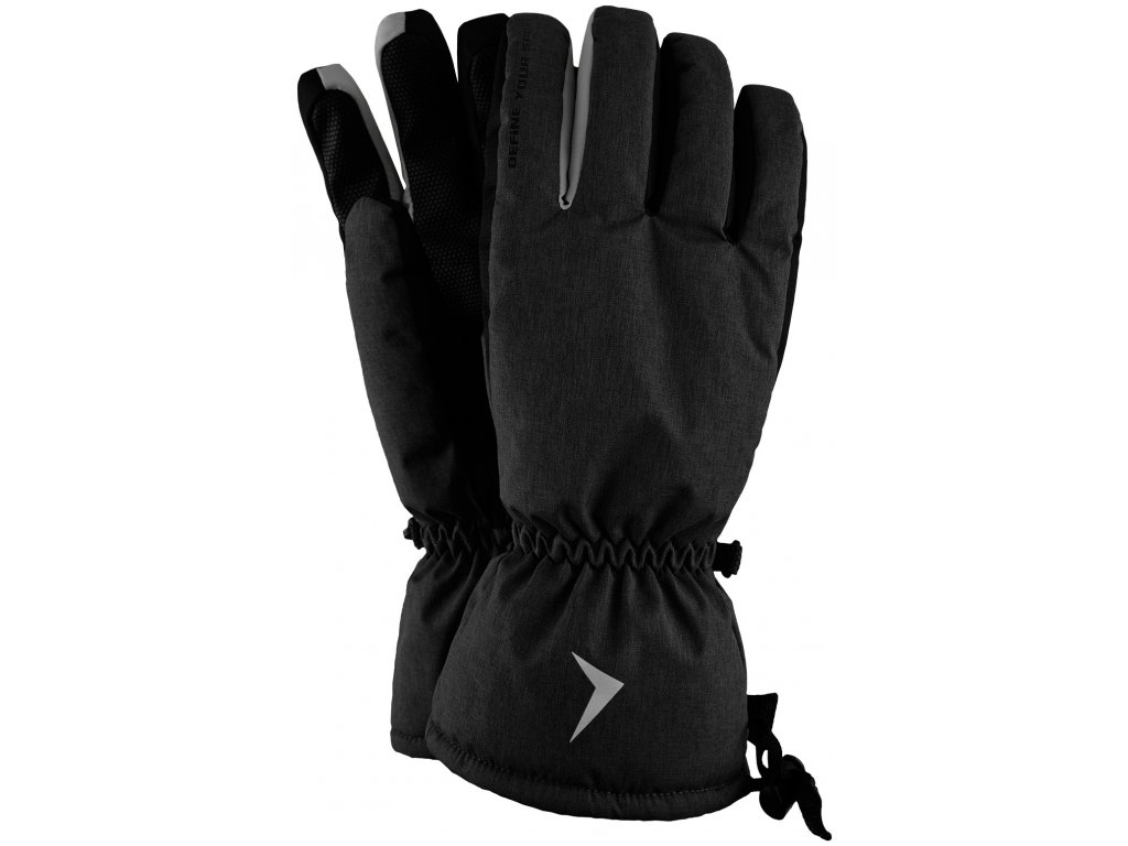 Pánské lyžařské rukavice Outhorn REM600 Black černá