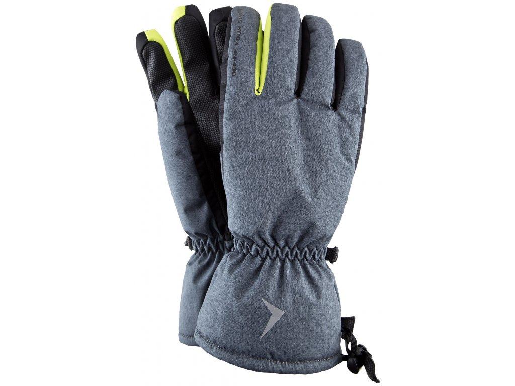 Pánské lyžařské rukavice Outhorn REM600 Mid grey mel. šedá