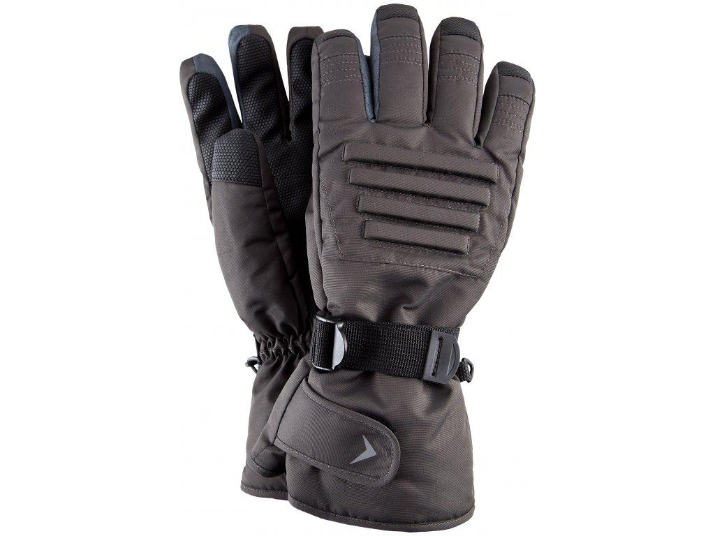 Pánské lyžařské rukavice Outhorn REM602 Mid grey mel. černá