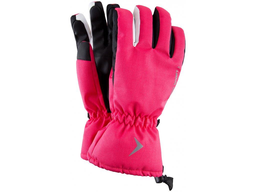 Dámské lyžařské rukavice Outhorn RED601 Fuchsia růžová