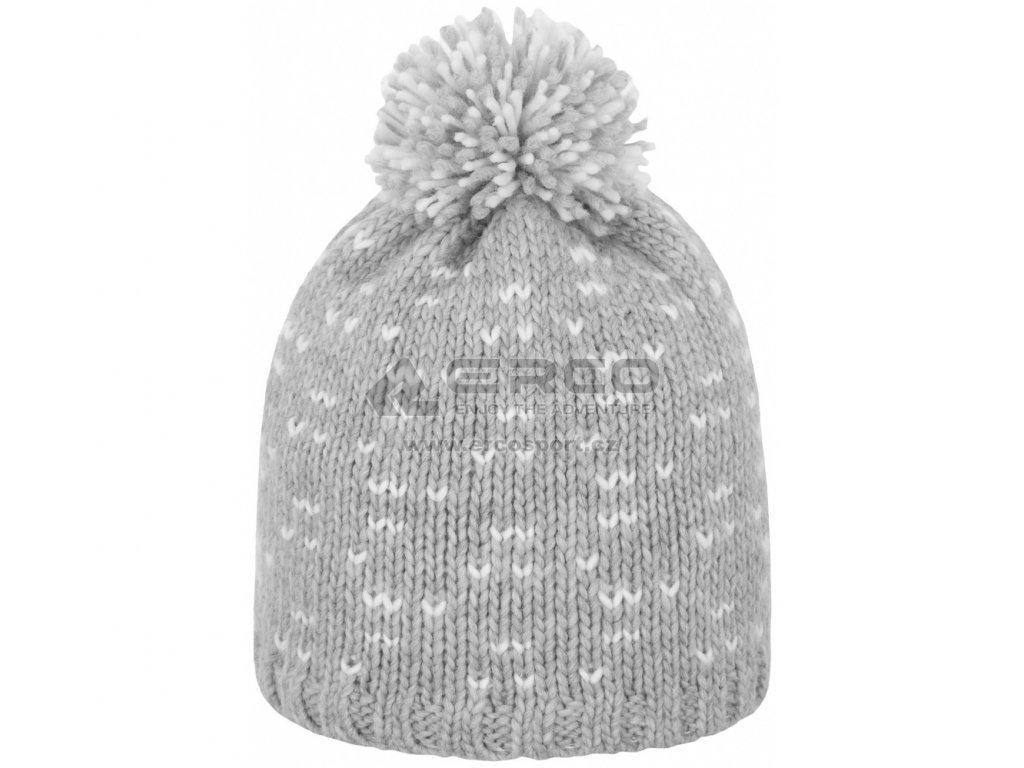 Dámská pletená čepice Outhorn CAD603 šedá