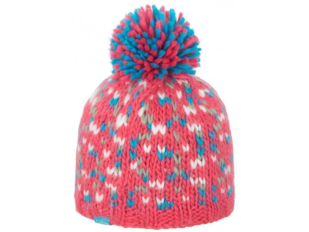 Dámská pletená čepice Outhorn CAD603 malinová růžová
