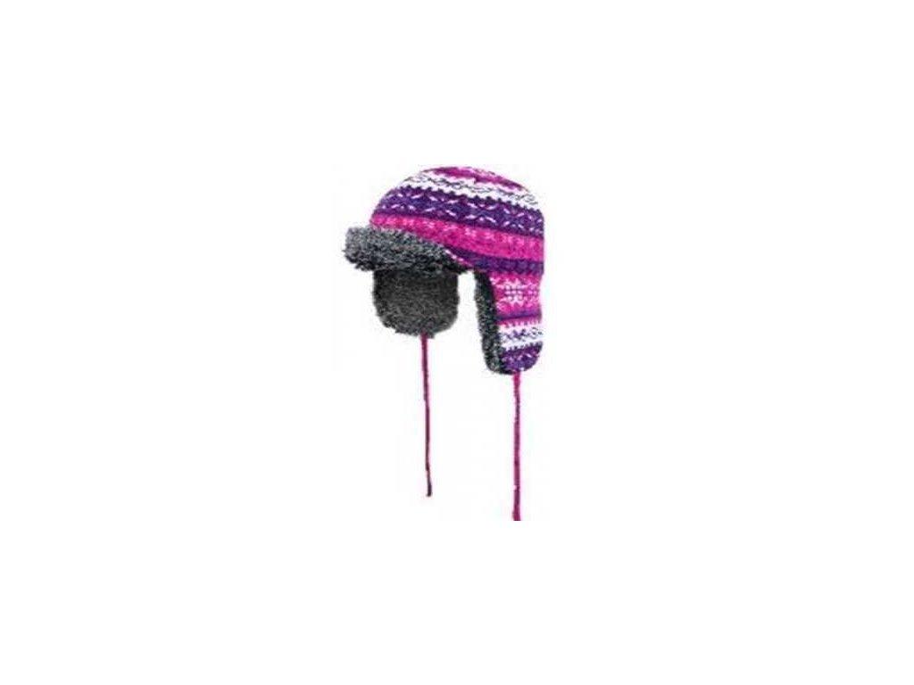 D msk zimn epice Outhorn CAD607 roz malinov S M 100 polyester r ov epice 187