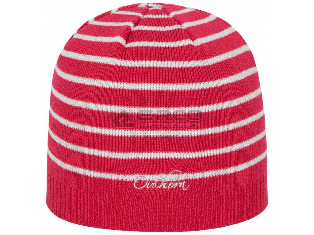 Dámská pletená čepice Outhorn CAD602 malinová