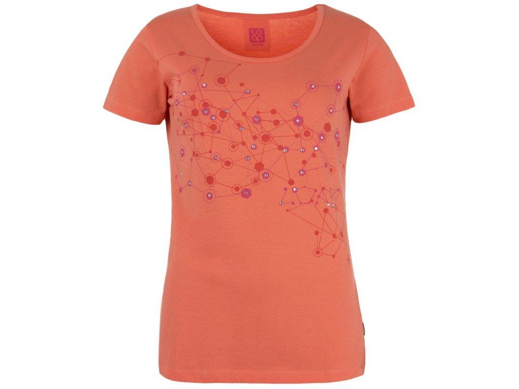 Dámské tričko Loap BJARNE E28E Oranžová
