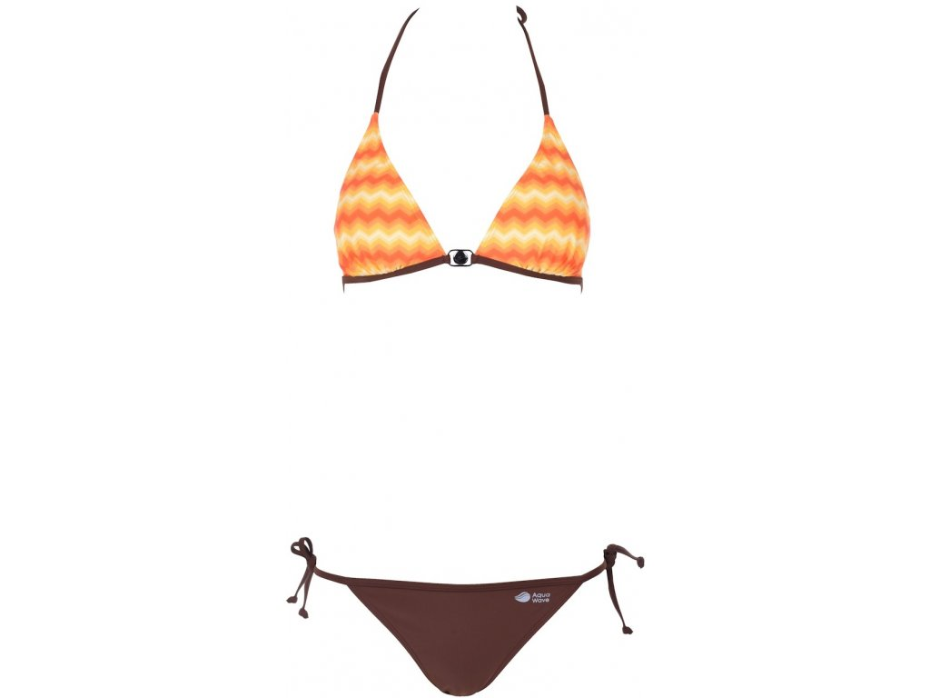 Dámské plavky Aquawave RAFIA WMNS Orange/chocolate Hnědá