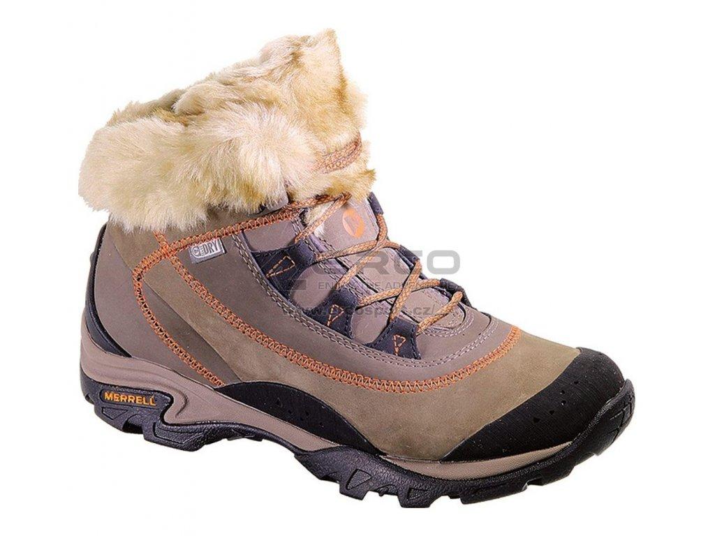 Dámské zimní boty Merrell SNOWBOUND MID WTPF Brown
