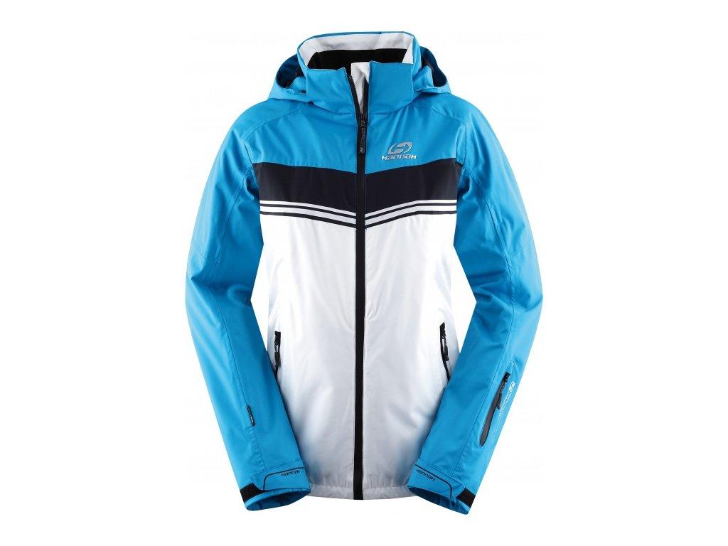 Dámská zimní bunda Hannah IVORY Bright white/blue jewel bílá