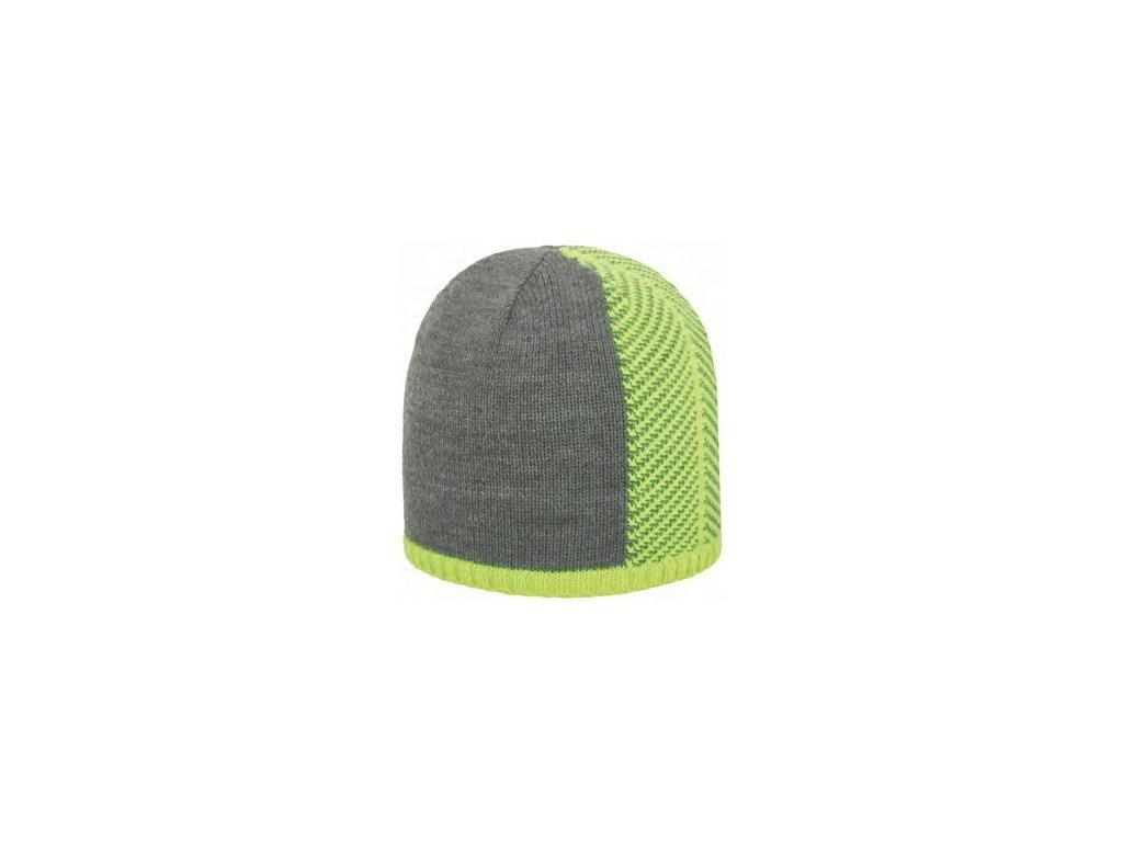 Pánská zimní čepice 4F CAM011 SZARY MELANGE zelená