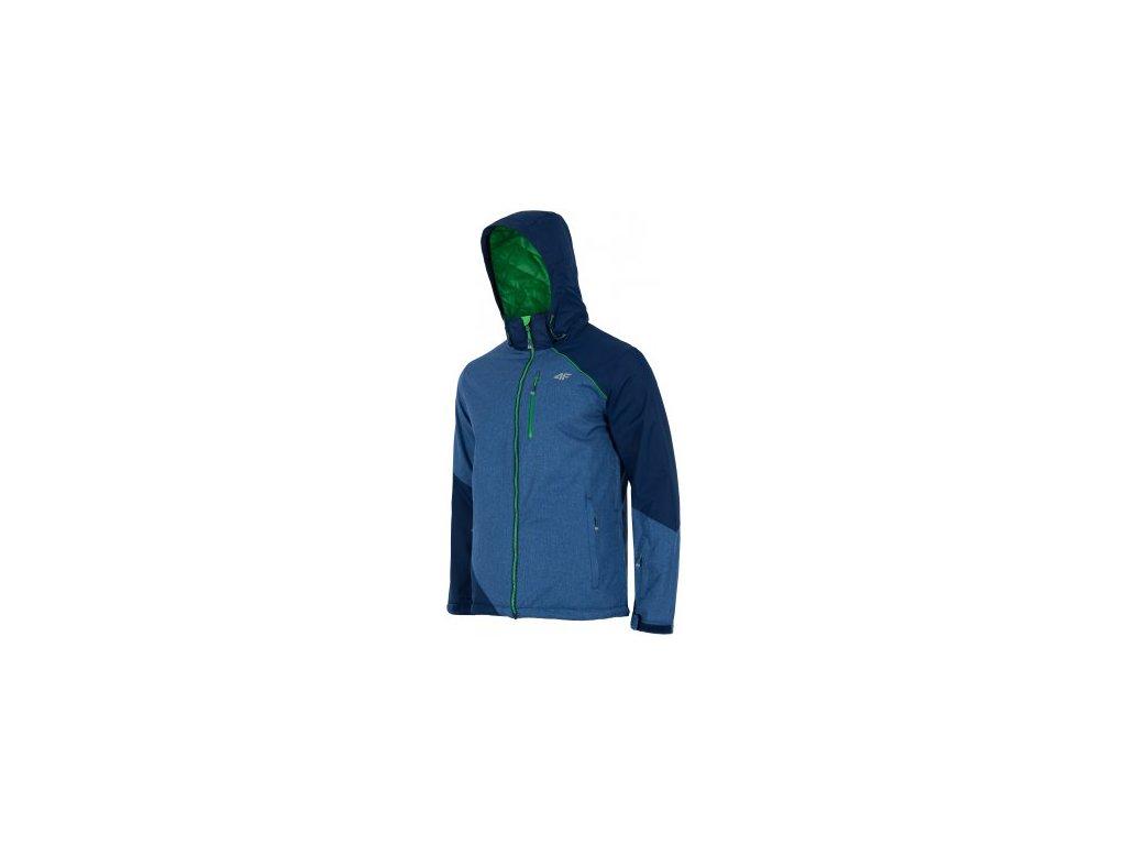 Pánská zimní bunda 4F KUMN004 Denim mel modrá