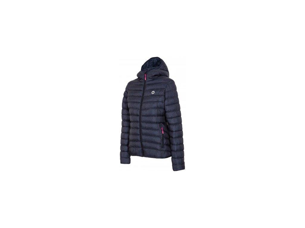 Dámská zimní bunda 4F KUD007 allover dost modrá