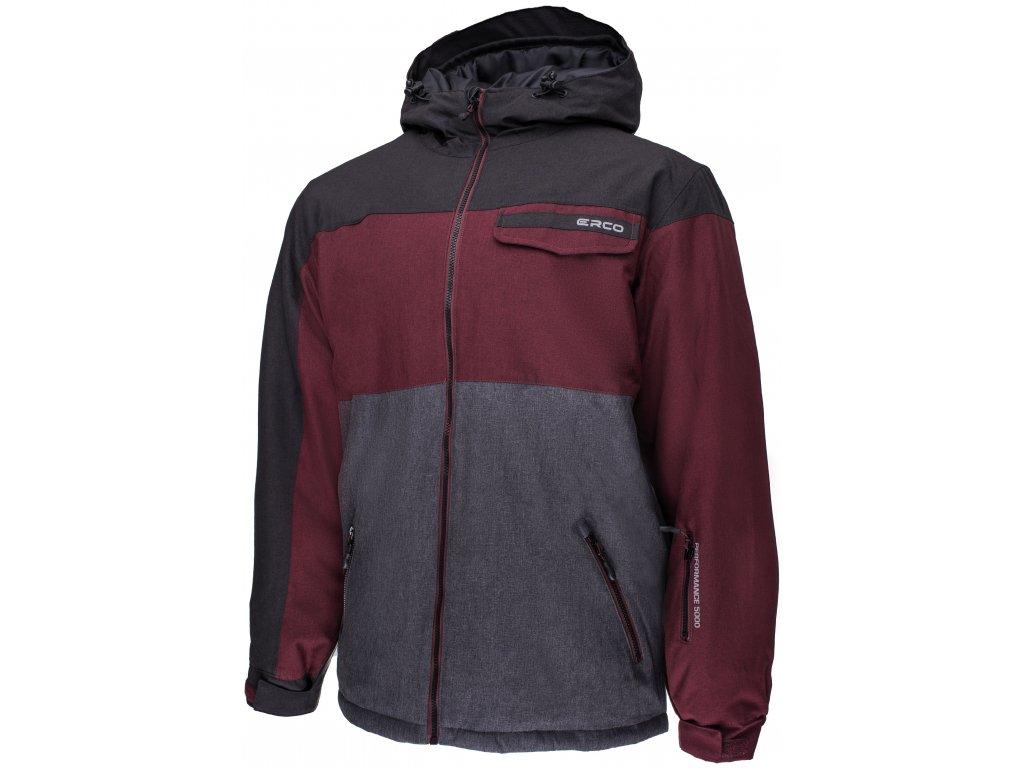 Pánská lyžařská bunda Erco SAVY BLK/RDW/GYM červená