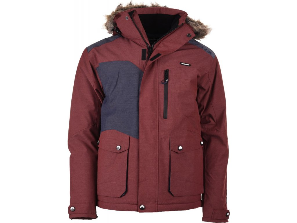 Pánská zimní bunda Elbrus FINBAR CABER.MEL/NAVY MEL červená