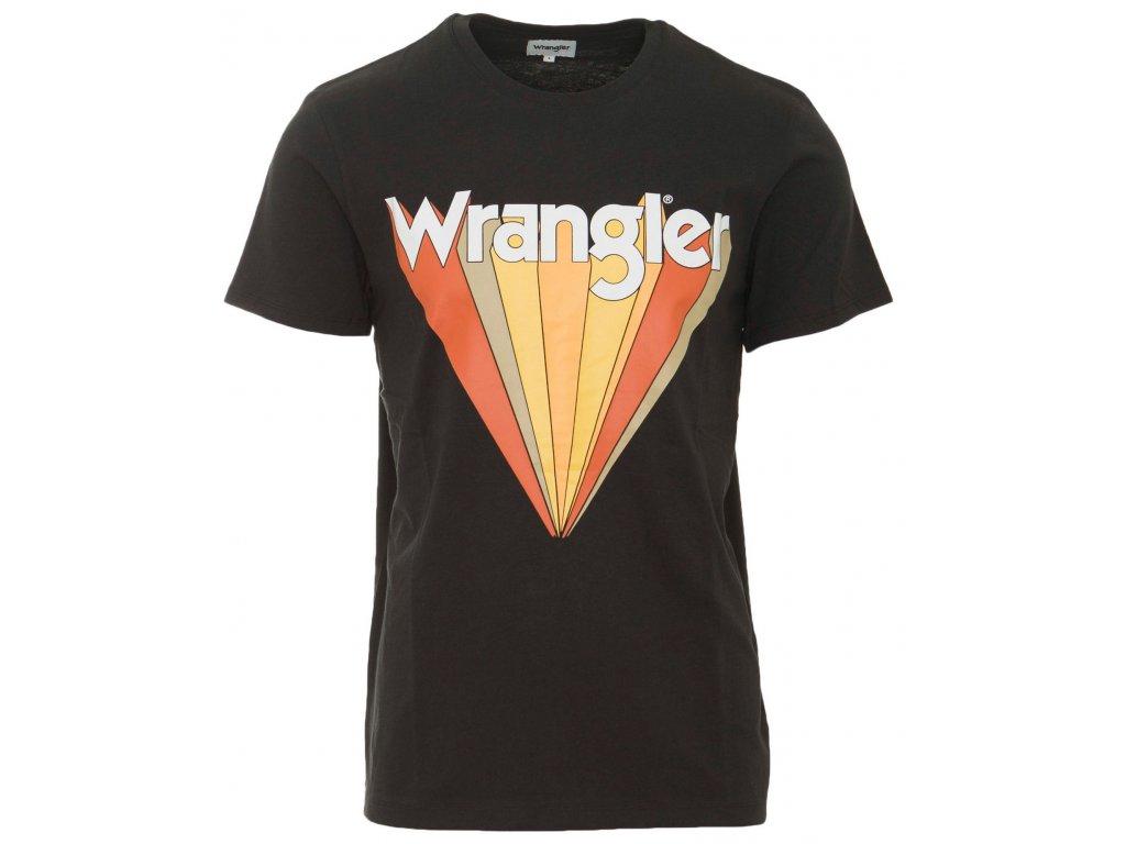 Pánské tričko Wrangler W7C12F KV6 černá