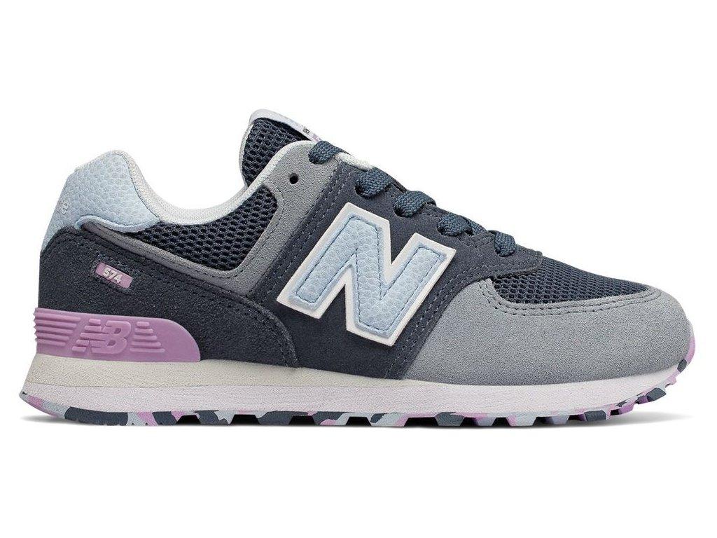 Dětská lifestylová obuv New Balance PC574 UJA šedá