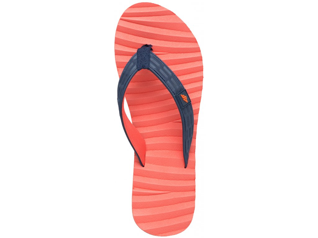 Dámské pantofle 4F KLD004 63N oranžová