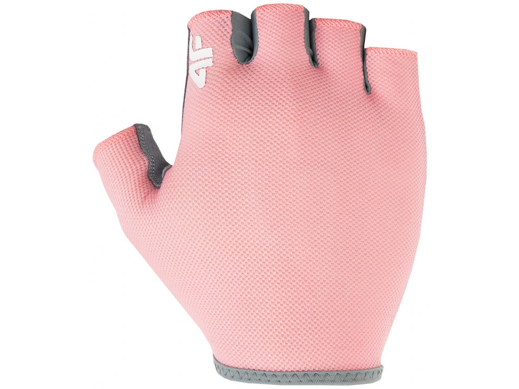 Cyklistické rukavice 4F RRU001 64S růžová