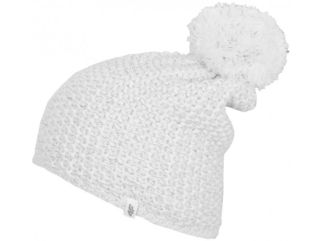 Dámská čepice 4F CAD272 White 10S bílá