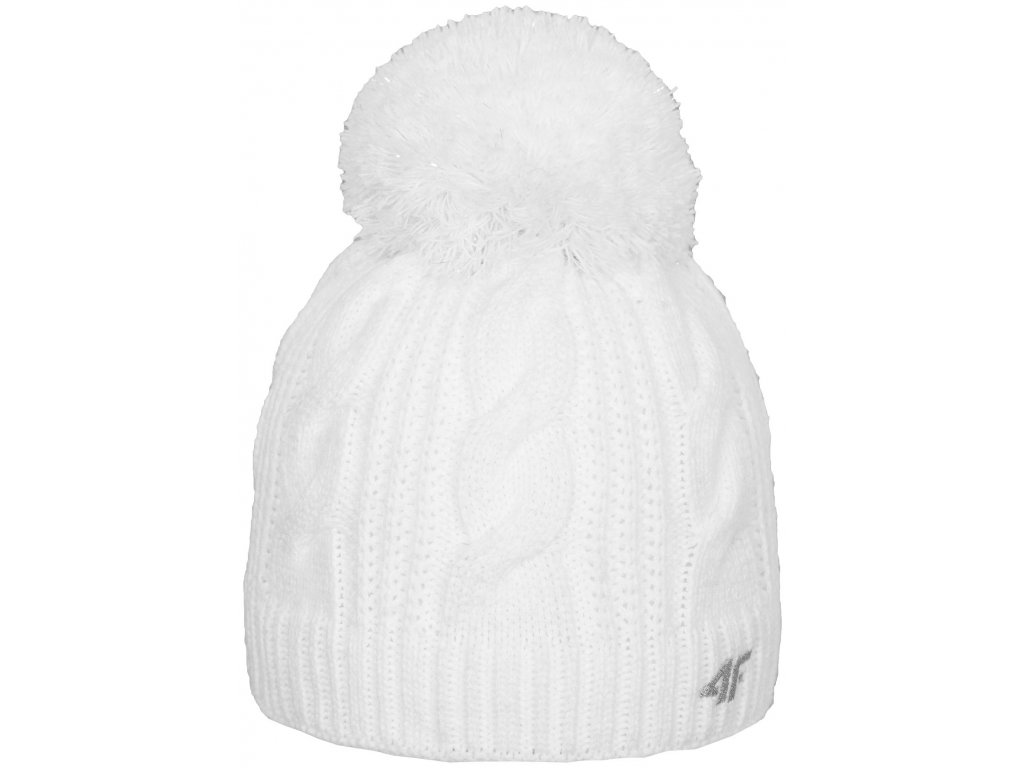 Dámská čepice 4F CAD151 White 10S bílá