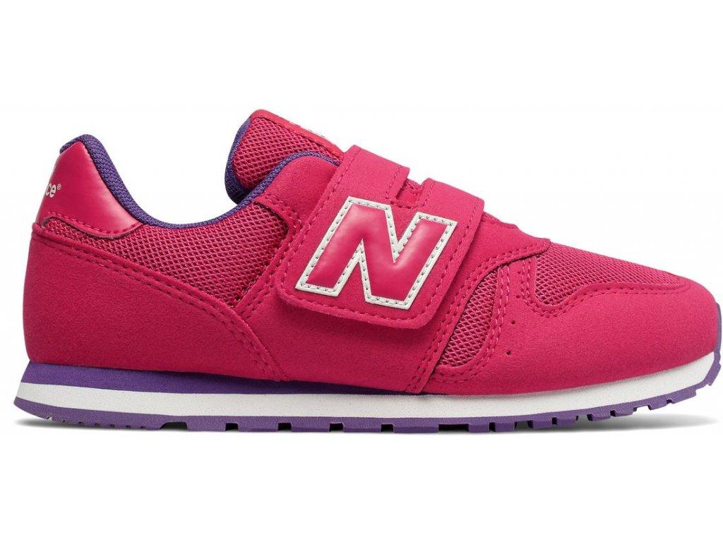 Dětská lifestylová obuv New Balance YV373 PY růžová
