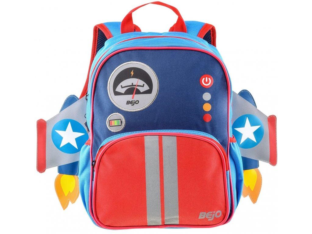 Dětský batoh BEJO SCHOOLPUFFY Rocket modrá