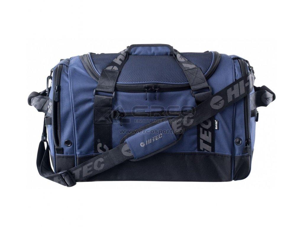 Sportovní taška HI-TEC AUSTIN 55L Blue/Raven/Char gray šedá