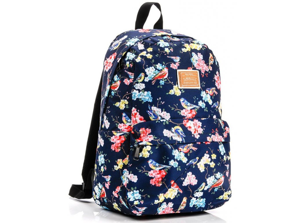Školní batoh Meteor 74516 flowers modrá