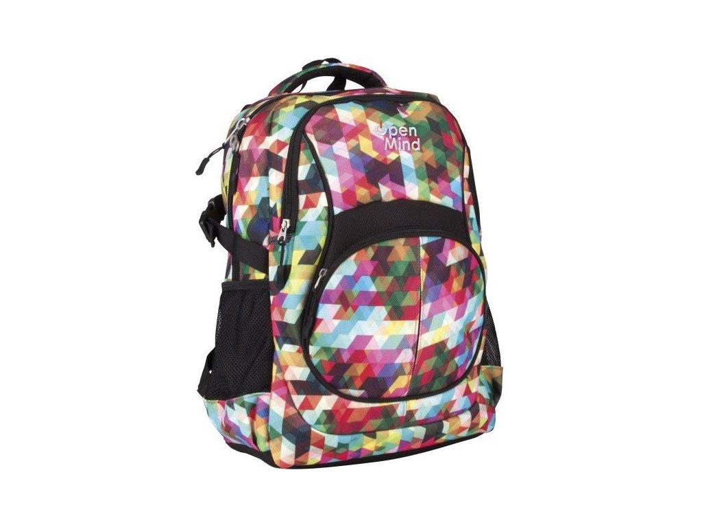 Školní batoh Open Mind 78823 trojkaty