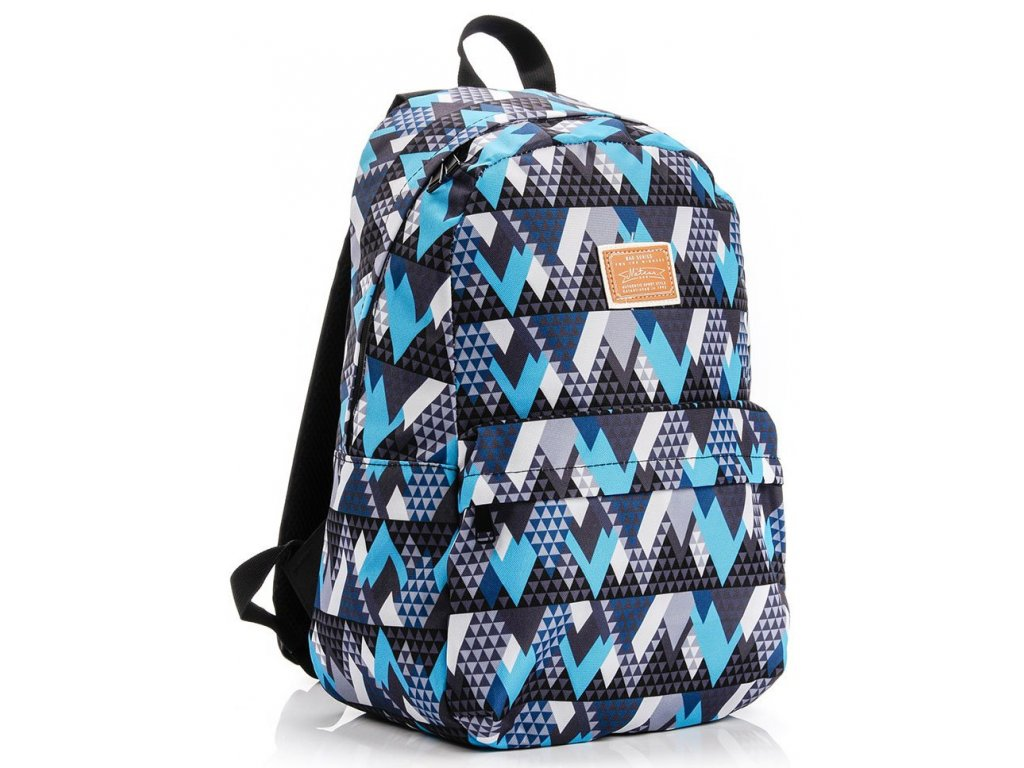 Školní batoh Meteor 74517 triangles modrá