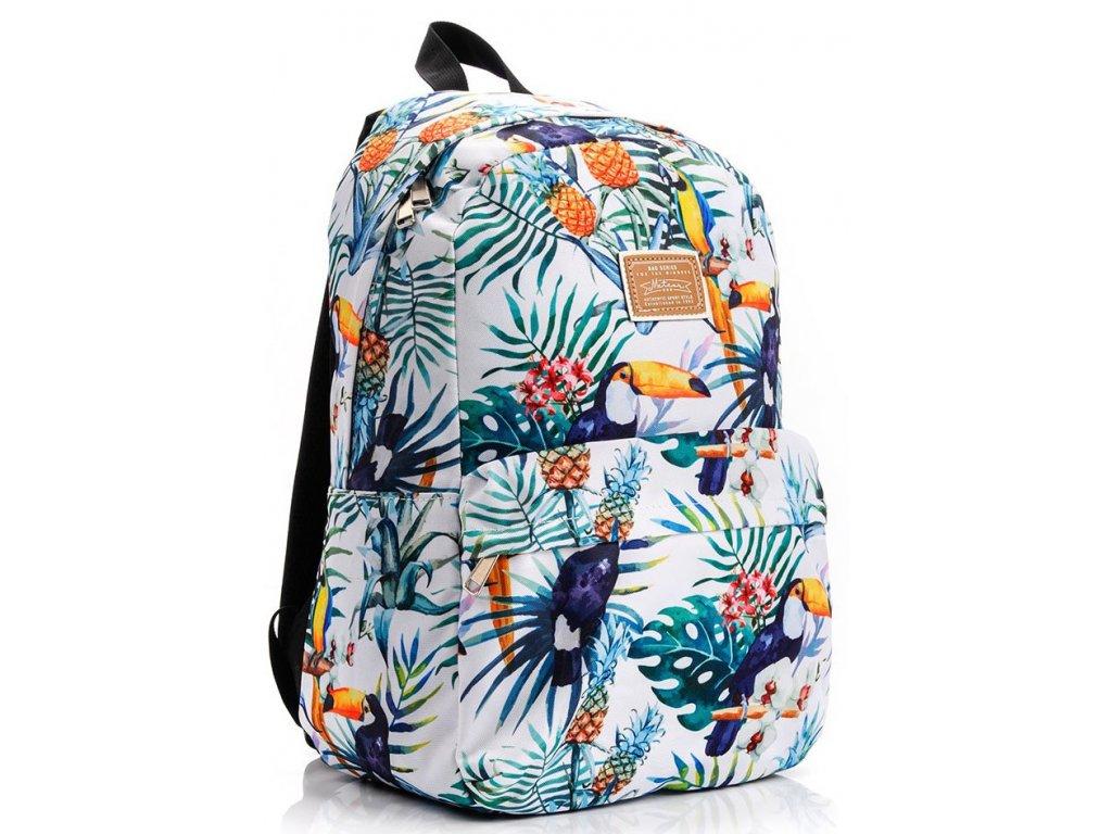 Školní batoh Meteor 74521 Tucan bílá