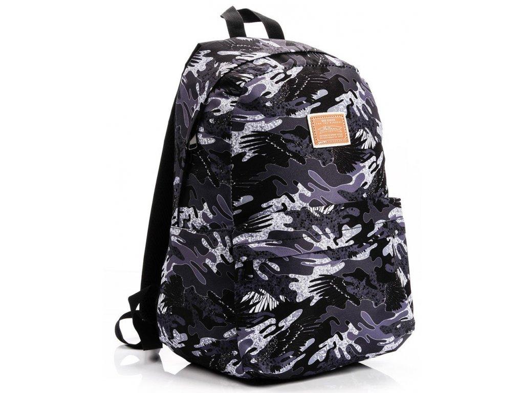 Školní batoh Meteor 74524 moro šedá