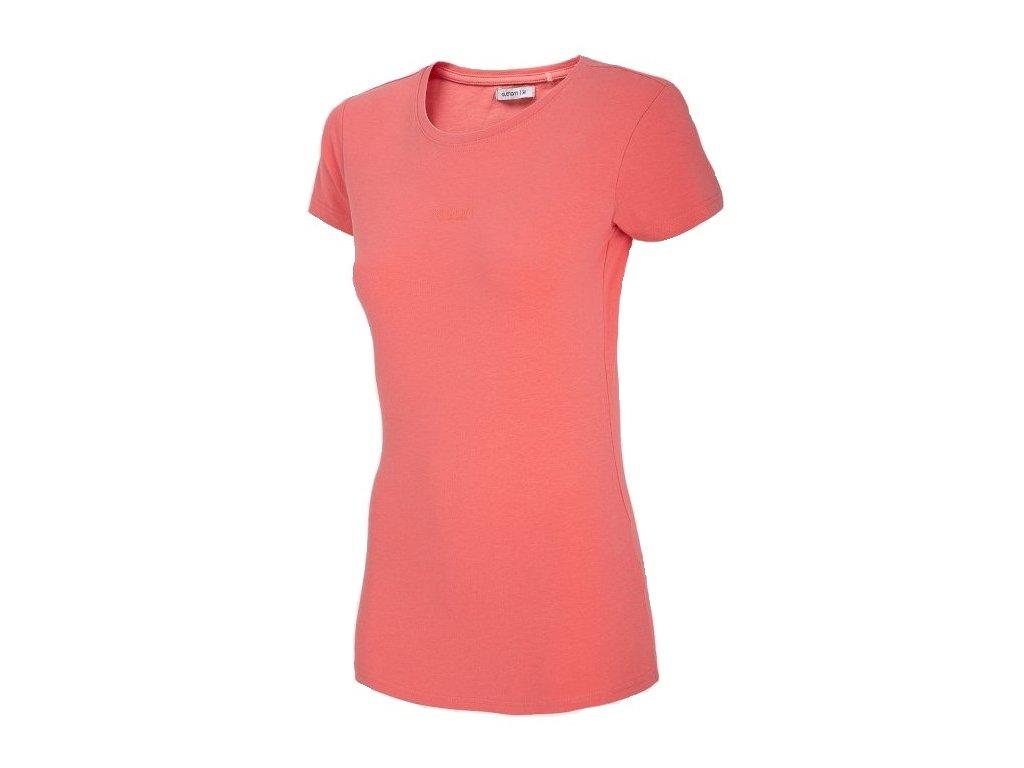 Dámské tričko Outhorn TSD601 Salmon coral oranžová