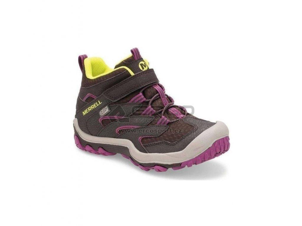 Dětské boty Merrell Chameleon 7 mid A/C WTPF Brown/berry
