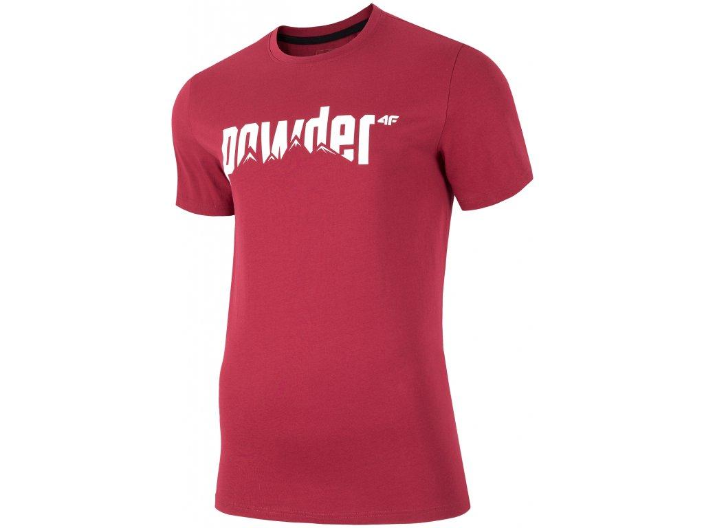 Pánské tričko 4F TSM003 Burgundy červená